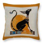 Black Kitten Throw Pillow