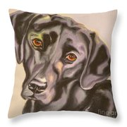 Black Lab Aint No Cure For Love Throw Pillow