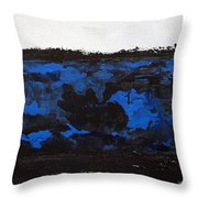 Black Lace Throw Pillow by KR Moehr