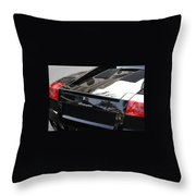 Black Lamborghini Sports Car  Throw Pillow