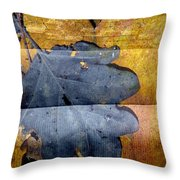 Black Leaf Couch Throw Pillow