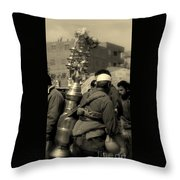 Black Licorice Throw Pillow