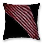 Black Lines On Red Flower Throw Pillow