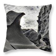Black Magic Canyon Throw Pillow