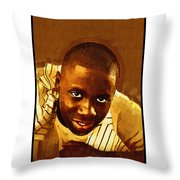 Young Black Male Teen 1 Throw Pillow
