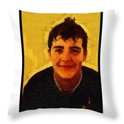 Young Black Male Teen 4 Throw Pillow
