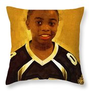 Young Black Male Teen 6 Throw Pillow