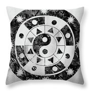 Mandala-black Throw Pillow
