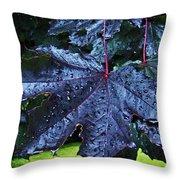 Black Maple Throw Pillow