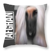 Black Masked Afghan No 10 Throw Pillow