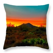 Black Mountain Seduction Throw Pillow