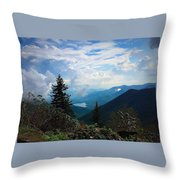 Black Mountain On Blue Ridge Throw Pillow