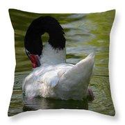 Black-necked Swan II Throw Pillow