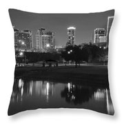 Black Night In Fort Worth Throw Pillow