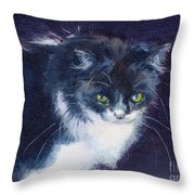 Black On Blacl Throw Pillow
