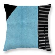 Black On Blue Throw Pillow