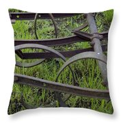Black On Green Throw Pillow