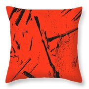 Black On Red Throw Pillow