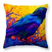 Black Onyx - Raven Throw Pillow