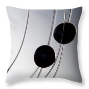Black Pearls Throw Pillow