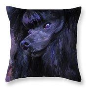 Black Poodle - Square Throw Pillow