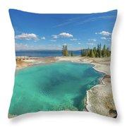Black Pool, Yellowstone Throw Pillow