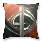 Black Red And White Abstract Throw Pillow