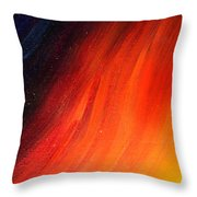Black-red-yellow Abstract Throw Pillow