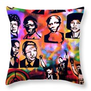 Black Revolution Throw Pillow