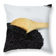 Black Rice Throw Pillow by Michael Tesar