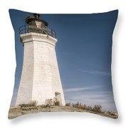 Black Rock Harbor Lighthouse II Throw Pillow