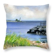 Black Rock Throw Pillow