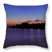Black Rock Sunset Throw Pillow by Kelly Wade