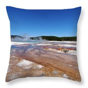 Black Sand Basin In Yellowstone National Park Throw Pillow