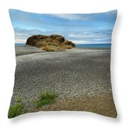 Black Sand Beach On The Lost Coast Throw Pillow