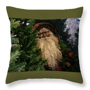 Black Santa Throw Pillow