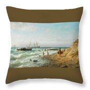 Black Sea Coast Throw Pillow