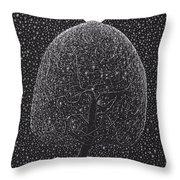 Black Shadow Tree Throw Pillow
