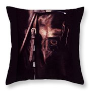 Black Sterling II Throw Pillow