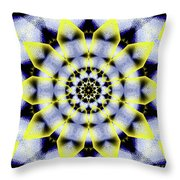 Black, White And Yellow Sunflower Throw Pillow