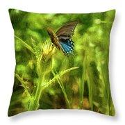 Black Swallowtail No. 2 Painterly Throw Pillow