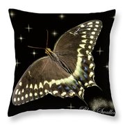 Black Swallowtail On Black Throw Pillow