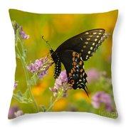 Black Swallowtail Throw Pillow by Robert Frederick