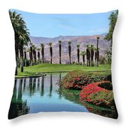 Black Swan In Palm Springs Throw Pillow