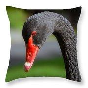 Black Swan Portrait Throw Pillow