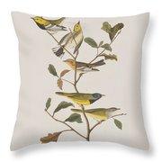 Black Throated Green Warbler Blackburnian Mourning Warbler Throw Pillow