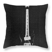 Black Thunder Throw Pillow