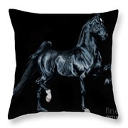 Black Tie Affair Featuring Saddlebred Champion Undulata's Made In Heaven Throw Pillow
