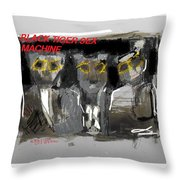 Black Tiger Sex Machine Throw Pillow