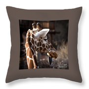 Black Tongue Of The Giraffe Throw Pillow